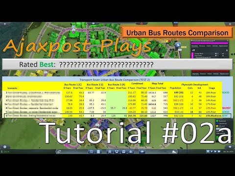 Transport Fever: Tutorial - The Most Profitable City Bus Route?