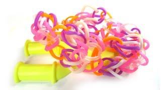 Как сделать браслет из резинок на рогатке | How to make Rainbow Loom bracelet on slingshot