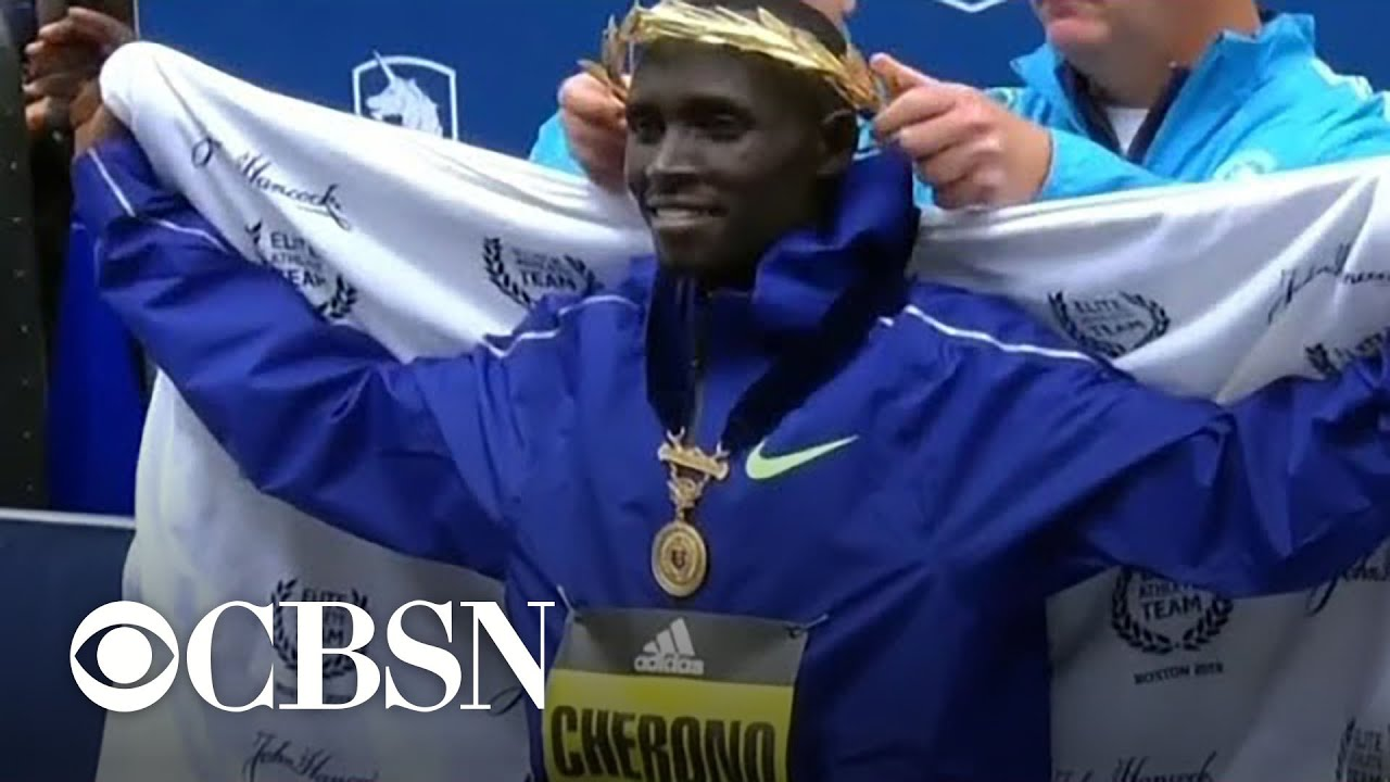 Kenya's Lawrence Cherono wins men's Boston Marathon