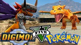 Download POKEMON VS DIGIMON   CHARIZAR VS METALGREYMON  GTA 5 MODS Mp3