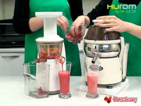 Slow Juicer Vs High Speed : Introduction video of Hurom Slow Juicer in English - YouTube