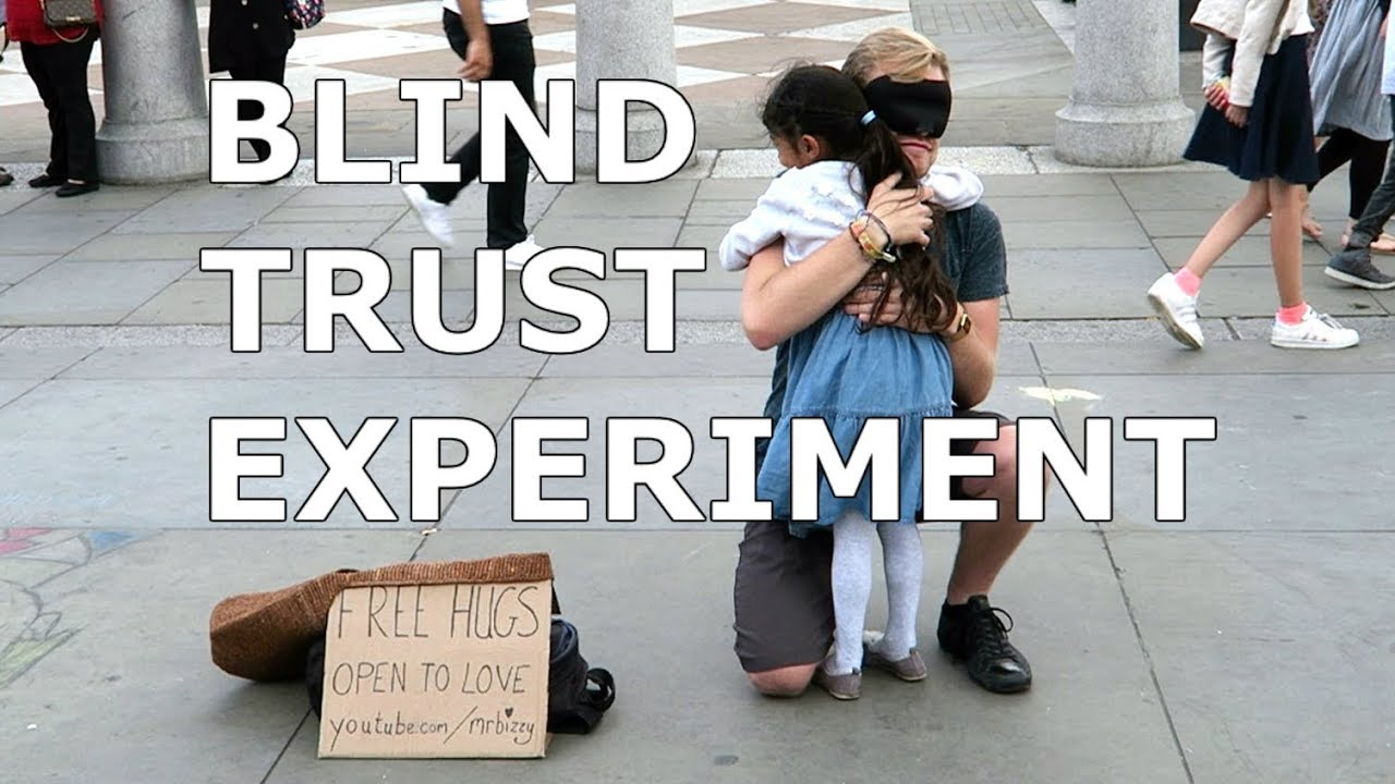 FREE HUGS! Blind Trust Experiment in London