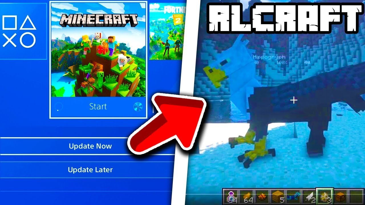 Minecraft PS4 Bedrock How To Install RLCraft Modpack Minecraft