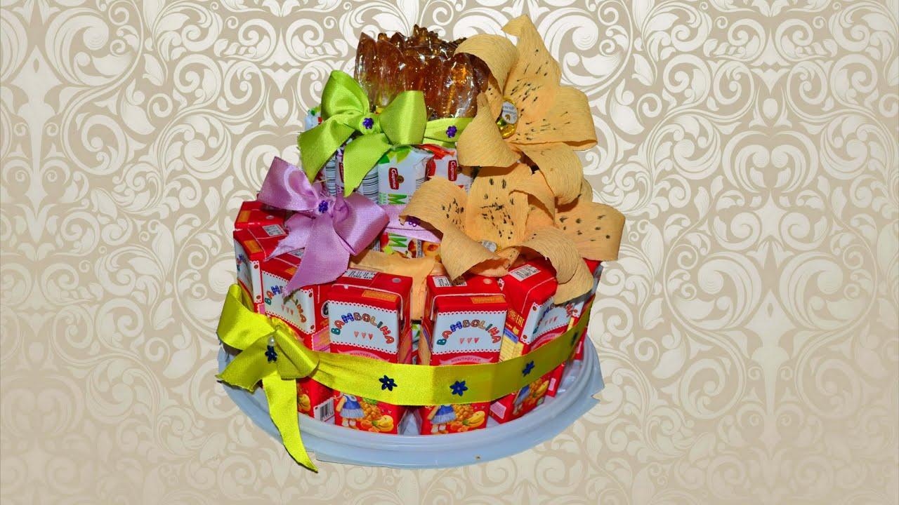 торт из памперсов пошагоая инструкция