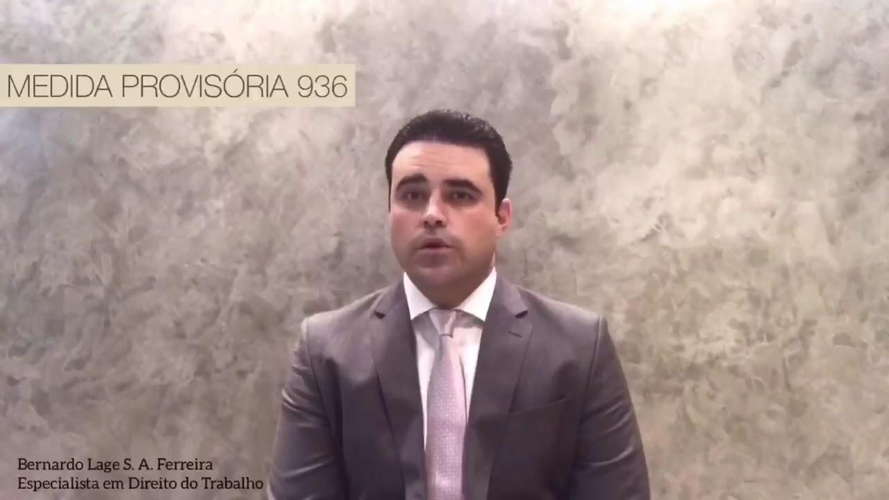 Abordagem do tema Medida Provisória 936 por Dr. Bernardo Lage, especialista em Direito do Trabalho.