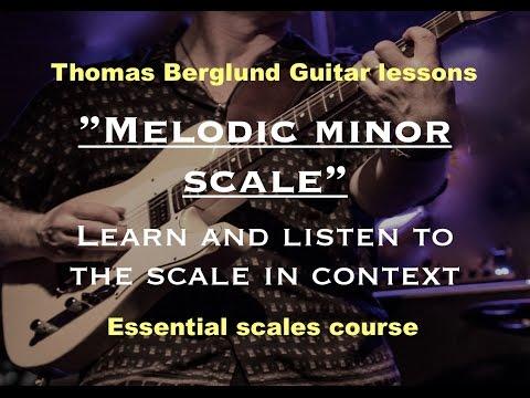 Melodic minor scale - Guitar lesson