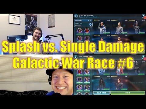 Star Wars Galaxy of Heroes: Splash vs. Single Damage Galactic War w/ MobileGamer