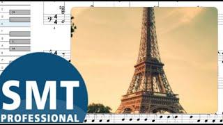 Как играть на аккордеоне Под небом Парижа (Французский вальс) | How to play on accordion | SMT Pro