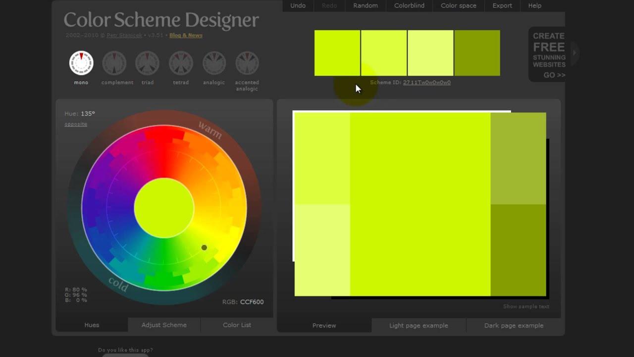 webtipps colorschemedesigner ganz einfach farbschemas erstellen hdgerman - Color Scheme Designercom