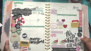 December 2014- Month on two pages decoration video