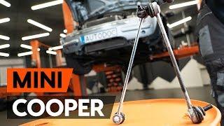 Cómo cambiar los bieletas de suspensión delantera en MINI COOPER 1 (R50, R53) [INSTRUCCIÓN AUTODOC]