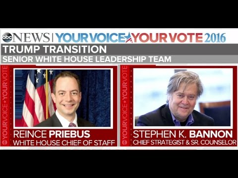 Donald Trump Appoints Reince Priebus, Stephen Bannon