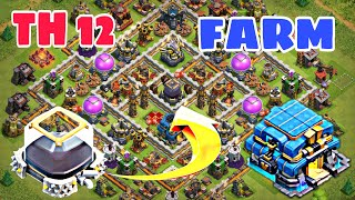 Town Hall 12 Farming / Trophy Base / Hybrid Base 2018 | Th12 Loot Protection Base - Clash of Clans