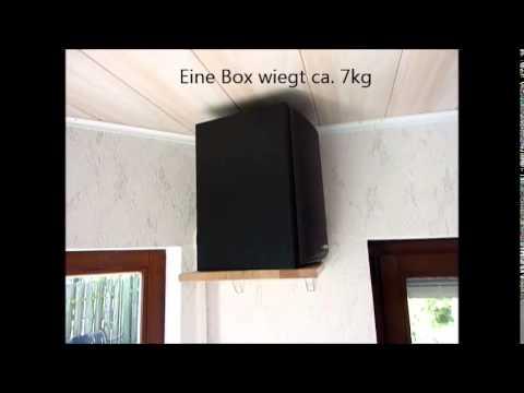 boxen wandhalterung f r lautsprecher heimwerker eigenbau. Black Bedroom Furniture Sets. Home Design Ideas