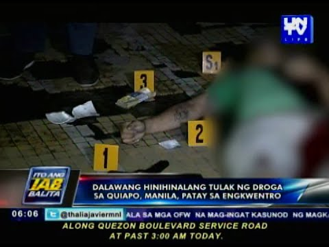 2 hinihinalang tulak ng droga sa Quiapo, Manila, patay sa engkuwentro