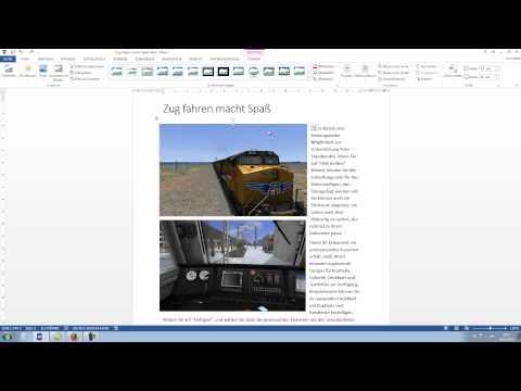 Word 2013, 2010: Bilder einfügen und bearbeiten [Tutorial, Anfängerkurs Teil 3, Grafik erstellen]