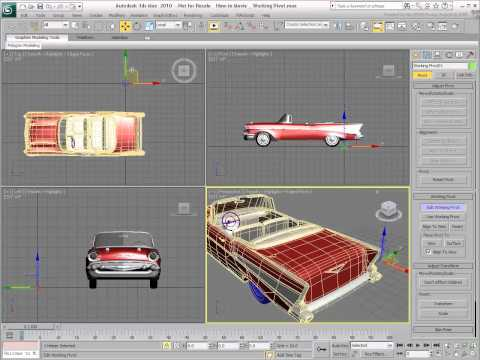 Object Manipulation in 3ds Max  Setting the Working Pivot