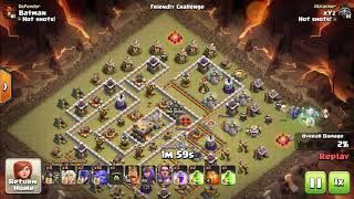 Clash Of Clans BoWitch Attack 3 Staring A Max TH11 War Base