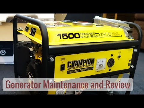 Life in a Tiny House called Fy Nyth - CHAMPION vs. HONDA Generator & Maintenance