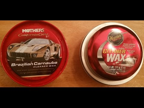 Mothers California Gold Brazilian Carnauba Cleaner Wax  Vs Meguiar's Paste Cleaner Wax(Water test)