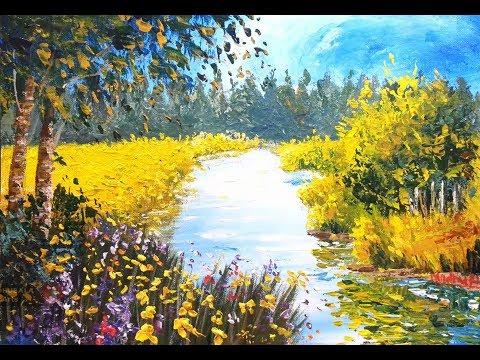 Impasto Landscape – Acrylic Painting Lesson