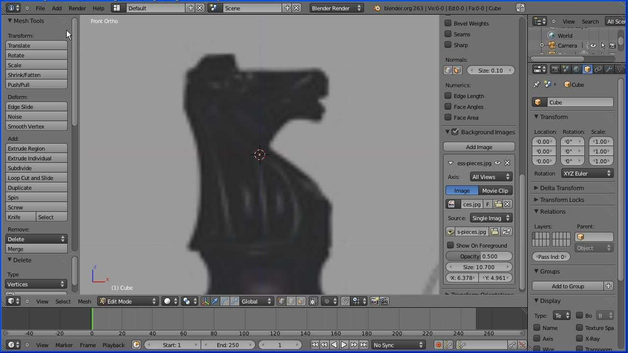 Blender Modelling Tutorial  Making A Knight Chess Piece Part 1 Making The  Horse's Head  Youtube