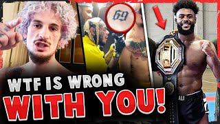 Sean O'Malley SLAMMED for 6ix9ine TATTOO! Aljamain Sterling RIPPED by fans for POSING WITH BELT!