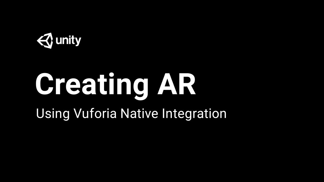 Creating AR Content with Vuforia - Introduction [1/6] Live 2018/1/24