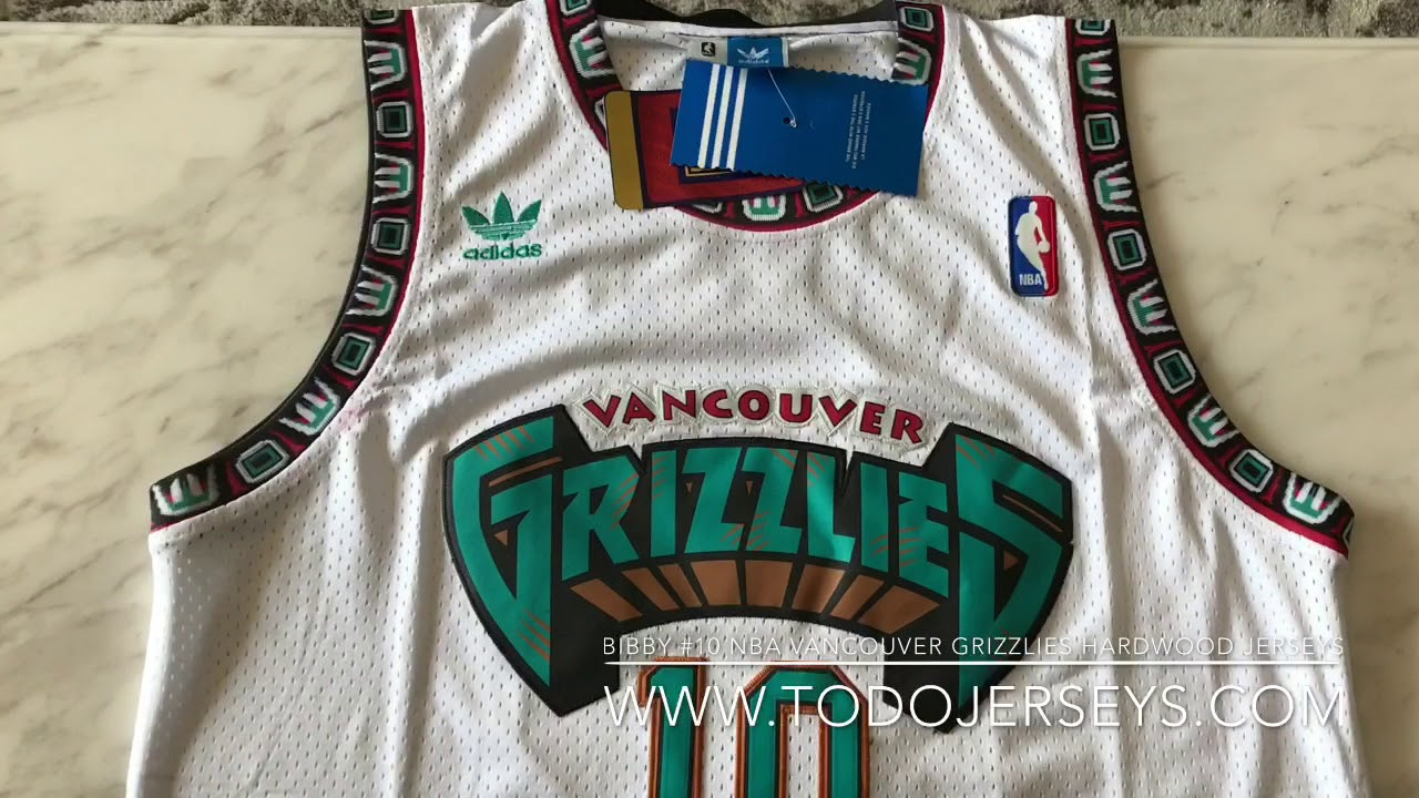65841be5d13a Nba Vancouver grizzlies  10 mike BIBBY hardwood classic jerseys ...
