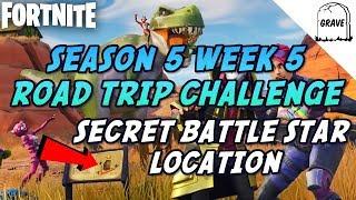 Fortnite Season 5 Week 5 Secret Battle Star Location (Road Trip Challenge)