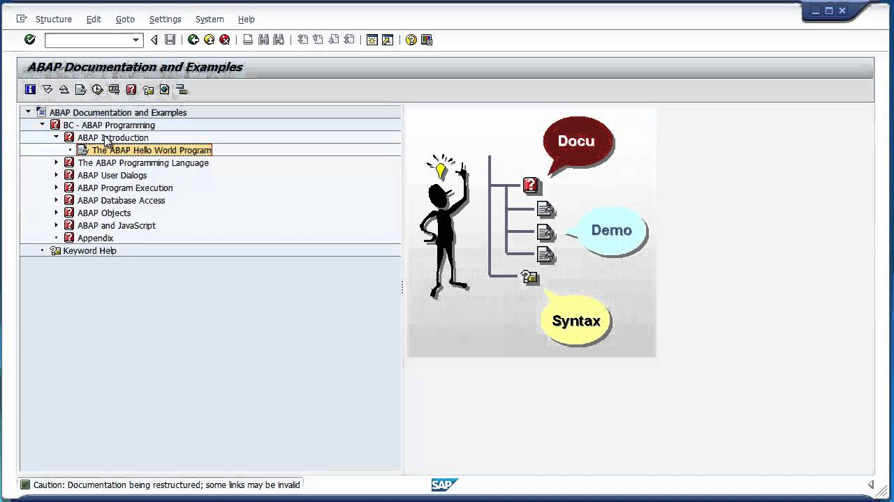 Sap helloworld basic abap program tuturial.