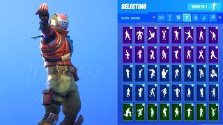 RUST LORD SKIN SHOWCASE WITH ALL FORTNITE DANCES & EMOTES