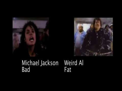 Michael jackson im bad vs weird al's im fat