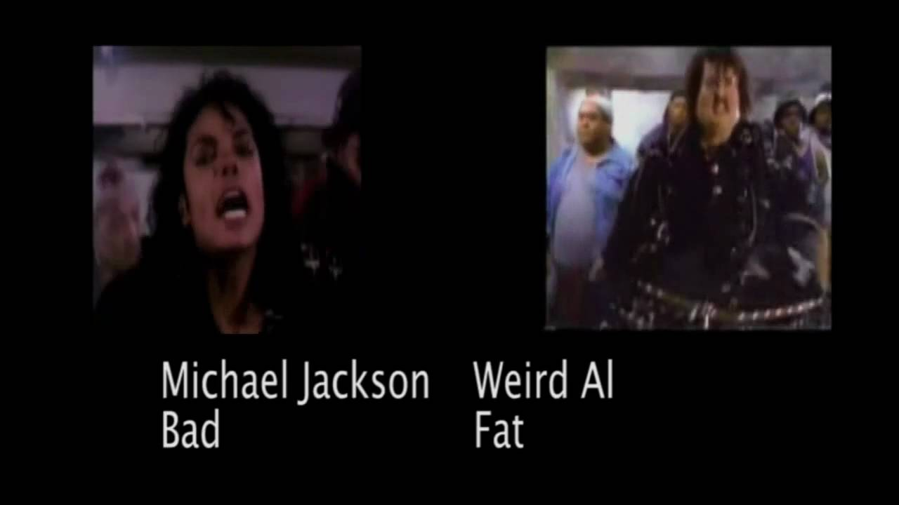 michael jackson im bad vs weird al 39 s im fat youtube. Black Bedroom Furniture Sets. Home Design Ideas