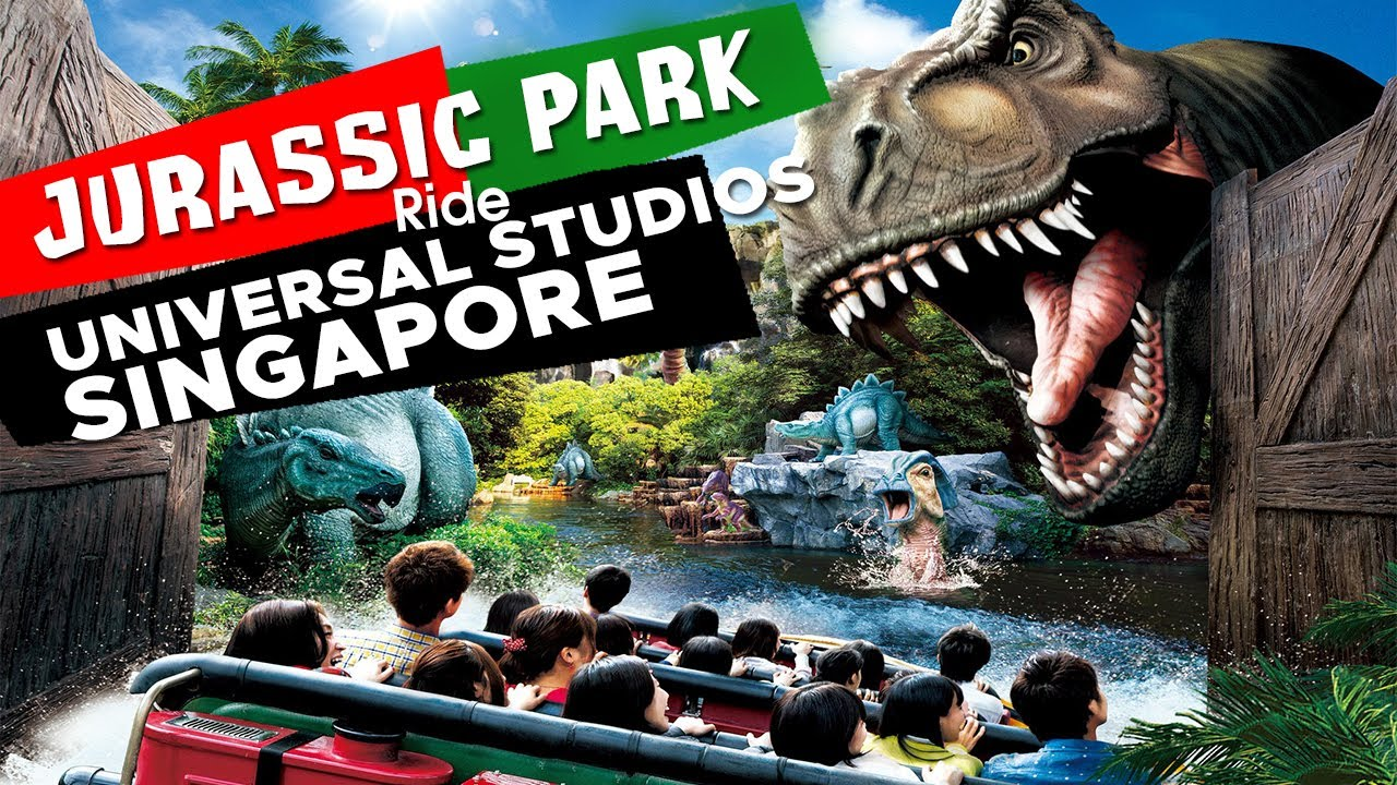 Universal Studios Singapore - Jurassic Park Ride - YouTube