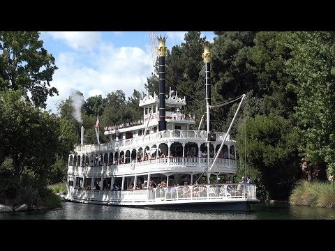 2017 Disneyland Mark Twain Riverboat Full Ride on the Rivers of America w/ New Scenes, Both Sides