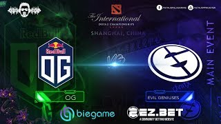 OG vs Evil Geniuses  | Best of 3 | Upper bracket | Main Stage | The International 9
