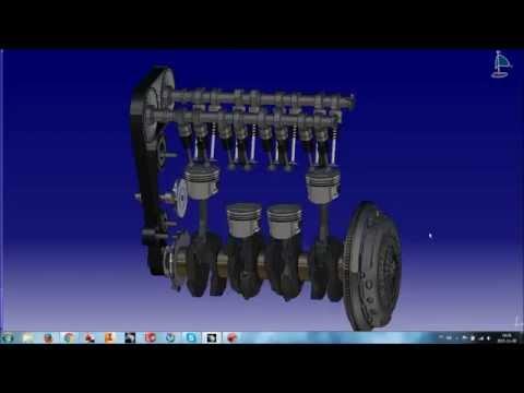 Engine in Catia V5 (1.6 16V Zetec-Ford)