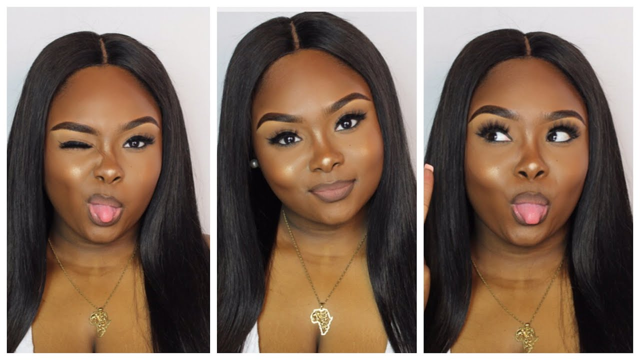 Natural Makeup Tutorial for black women  beginner friendly