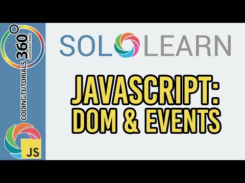 Learn JavaScript with SoloLearn: DOM and Events