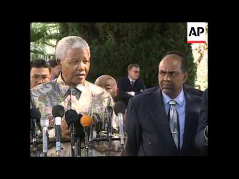 SOUTH AFRICA: SUDANESE PRESIDENT OMAR EL-BASHIR VISIT