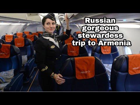 Russian Gorgeous Stewardess Trip To Yerevan Armenia 11/05/10