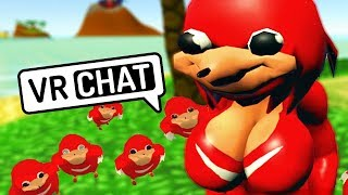 One of BestAtNothing's most viewed videos: UGANDAN KNUCKLES TRIBE WORSHIP THICC QUEEN | VRChat Funny Moments