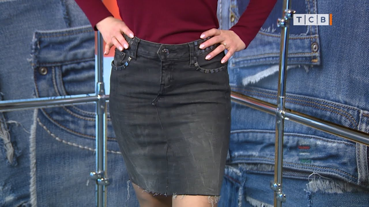 Как из джинсов сделать юбку фото 432