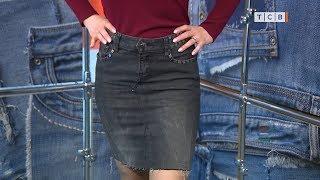 Из старых джинсов модная юбка. Переделка