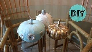 DIY Glitz & Glam Pumpkin Fall Decor - OkieDokersTV Thumbnail