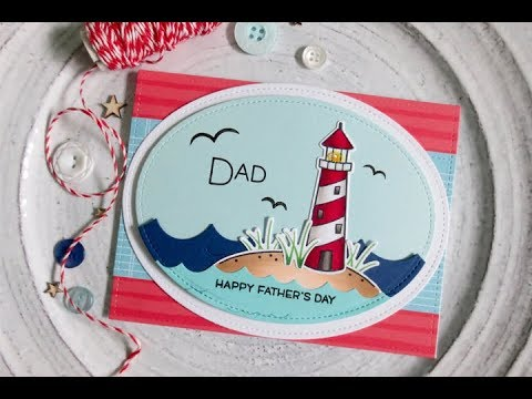 Nautical Father's Day   Copic Coloring   Lawn Fawn