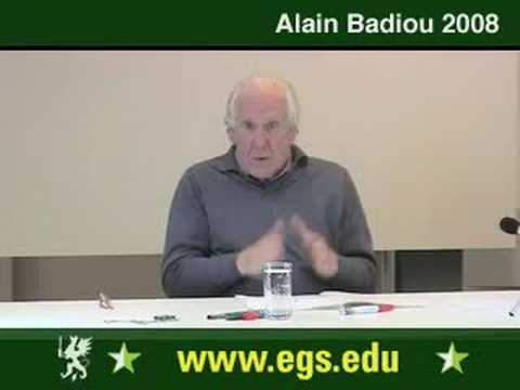 Alain Badiou. What Is Love. Sexuality And Desire. 2008. 5/12
