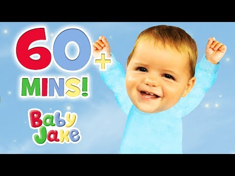 Baby Jake - Wiggle and Wobble | 60+ minutes | Dancing with Baby Jake