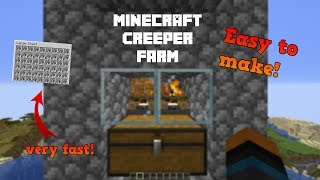 easy CREEPER GUNPOWDER farm tutorial minecraft 1.16+